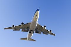 Jumbo Jet Landing Stock Photos