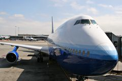 Jumbo Jet Parked Stock Images