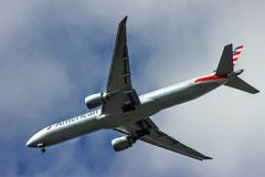 Jumbo jet pasażerski transport Zdjęcie Stock