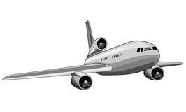 Jumbo jet plane Stock Photography