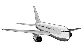 Jumbo jet plane Royalty Free Stock Images