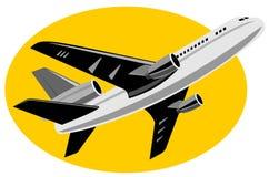 Jumbo jet plane Stock Photo