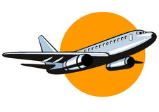 Jumbo jet plane Royalty Free Stock Image