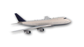 Jumbo jet plane in flight Stock Photo
