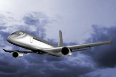Jumbo jet plane taking off Stock Photography