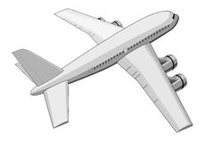 Jumbo jet plane top view Royalty Free Stock Photo