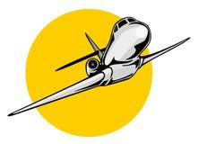 jumbo jet samolot. royalty ilustracja