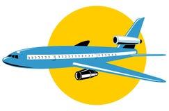 jumbo jet samolot. Fotografia Royalty Free