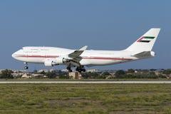 Jumbo-jet sui finali Fotografie Stock