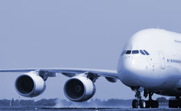 Jumbo jet taking off Stock Image