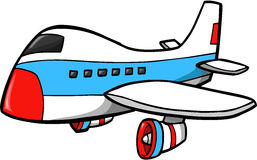 Jumbo Jet Vector Illustration. Big Jumbo Jet Vector Illustration Stock Photos