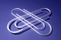 Jumbo paperclips Stock Image