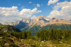 Jumbo Pass Mountain Landscape British Columbia Canada Stock Image