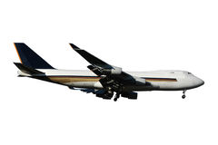 Jumbo plane. White background Stock Photos