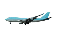 Jumbo plane. White background Royalty Free Stock Photo