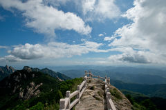 Jumbo rock. In Jiuhua china Royalty Free Stock Image