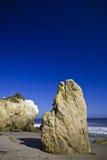 Jumbo rock in Malibu beach. Jumbo rocks in Malibu beach in California,  the USA Stock Image