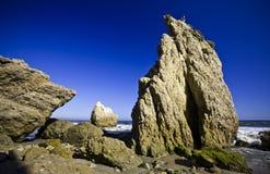 Jumbo rock in Malibu beach. Jumbo rocks in Malibu beach in California, the USA Stock Photography