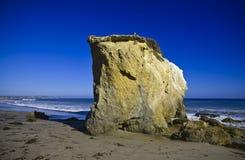 Jumbo rock in Malibu beach. Jumbo rocks in Malibu beach in California,  the USA Royalty Free Stock Photography