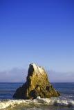 Jumbo rock in Malibu beach Royalty Free Stock Image