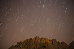 Jumbo Rocks Star Path at Joshua Tree National Park Royalty Free Stock Photo