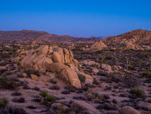 Jumbo Rocks after sunset n Joshua Tree National Park Royalty Free Stock Photography
