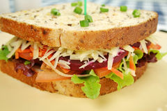 Jumbo Salad Sandwich Stock Photos