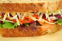 Jumbo Salad Sandwich Royalty Free Stock Image