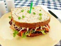 Jumbo Salad Sandwich Stock Photography