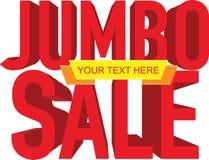 Jumbo sale text Stock Photos