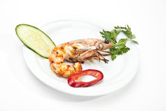 Jumbo shrimp Royalty Free Stock Images