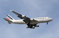 Jumbojet Air- Franceboeing 747 Lizenzfreies Stockfoto