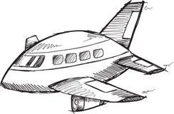 Jumbojet doodle vector vector illustratie