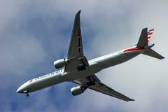 Jumbojet Personenbeförderung Stockfoto