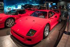 Jumeau de Ferrari F40 Turbo 1996 à l'exposition dans le musée de voiture du Roi Abdullah II à Amman, la capitale de la Jordanie image stock