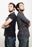 Jumeaux confiants Photographie stock
