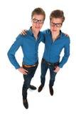Jumeaux de mâle adulte Images libres de droits