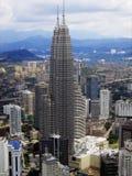 Jumeaux de tours à Kuala Lumpur capital. Image stock