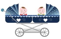Jumeaux nouveau-nés Images libres de droits