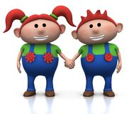 Jumeaux Red-haired Image stock