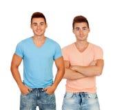 Jumeaux sexy avec des chemises Photographie stock
