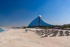 Jumeirah海滩旅馆迪拜 免版税库存照片