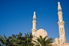 Jumeirah清真寺在迪拜,阿拉伯联合酋长国 库存照片
