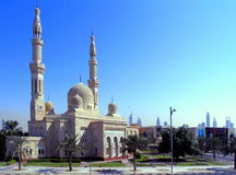 jumeirah清真寺 免版税库存图片