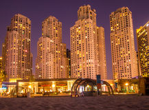 Jumeirah Beach buildings Royalty Free Stock Photos