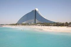 Jumeirah beach hotel. Viewed from Burj al Arab Royalty Free Stock Photo