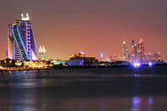 Jumeirah Beach Hotel at night Royalty Free Stock Photography