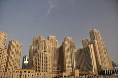 Jumeirah Beach Residence. A view of some of the towers of JBR in Dubai Stock Image
