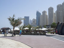 Jumeirah Beach Residence buildings royalty free stock photos