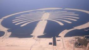 Jumeirah gömma i handflatan öDubai skytte från luft stock video
